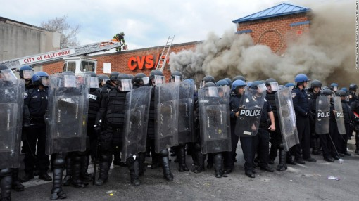 Minority shoppers patronize a Baltimore CVS.